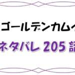 最新ネタバレ『ゴールデンカムイ』205-206話!考察!撮影開始で揺れるチカパシ!