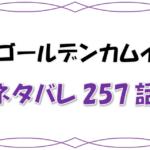 最新ネタバレ『ゴールデンカムイ』257-258話!考察!門倉が最後の暗号!?物語は暗号解読の段階へ!